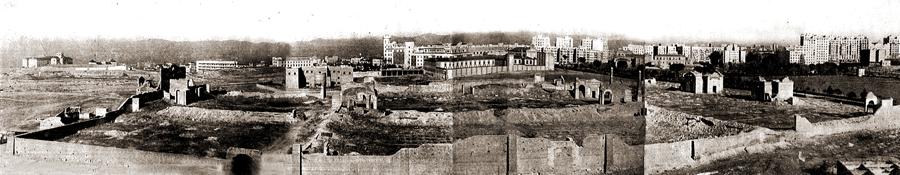 Restos que permanecieron durante aсos del cementerio de San Martнn
