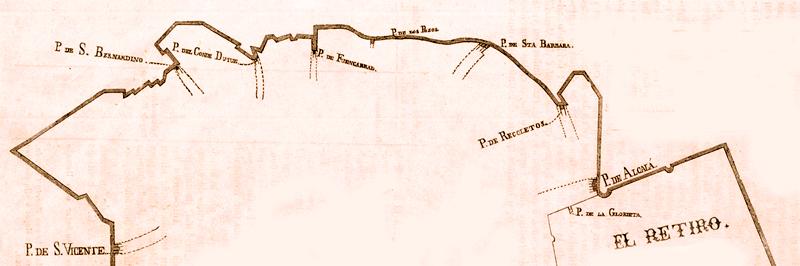 Cerca de Felipe IV por la zona norte