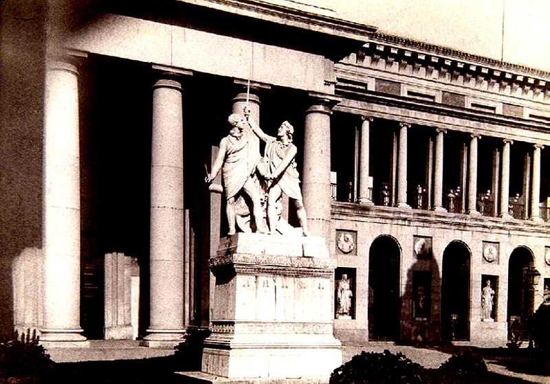 Monumento a Daoiz y Velarde junto al Museo del Prado