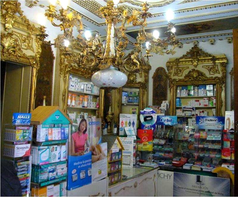 Interior de la Farmacia Deleuze