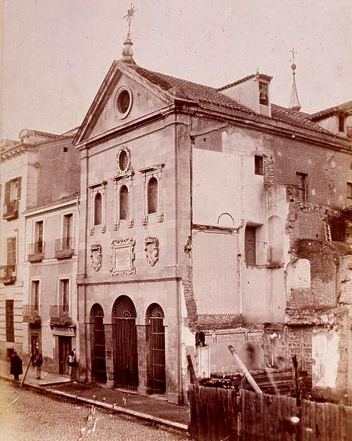 Demoliciуn del convento del Rosario hacia 1865