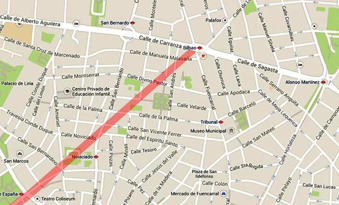 La Gran Vнa Diagonal plaza de Espaсa-glorieta de Bilbao
