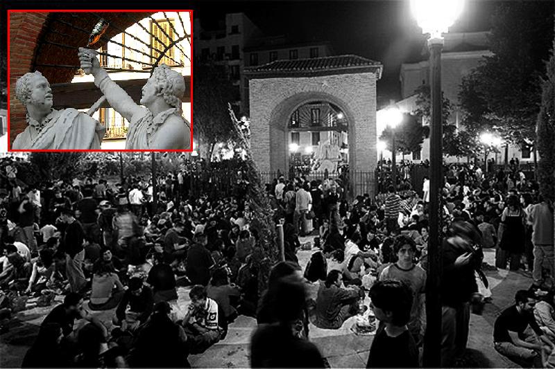Botellуn en la plaza del Dos de Mayo