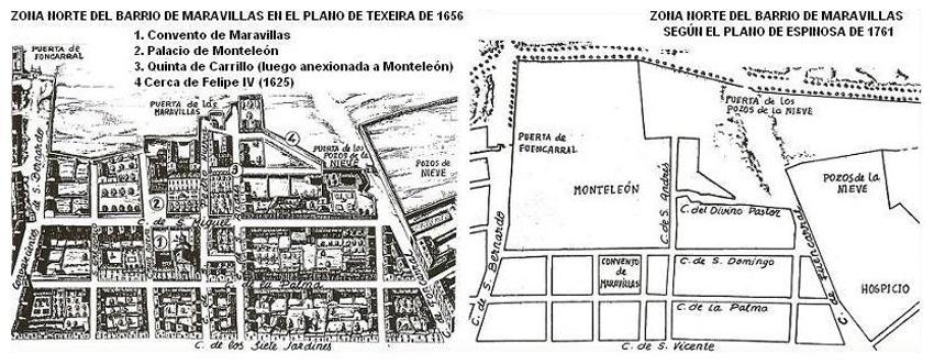 Planos de Texeira y Espinosa