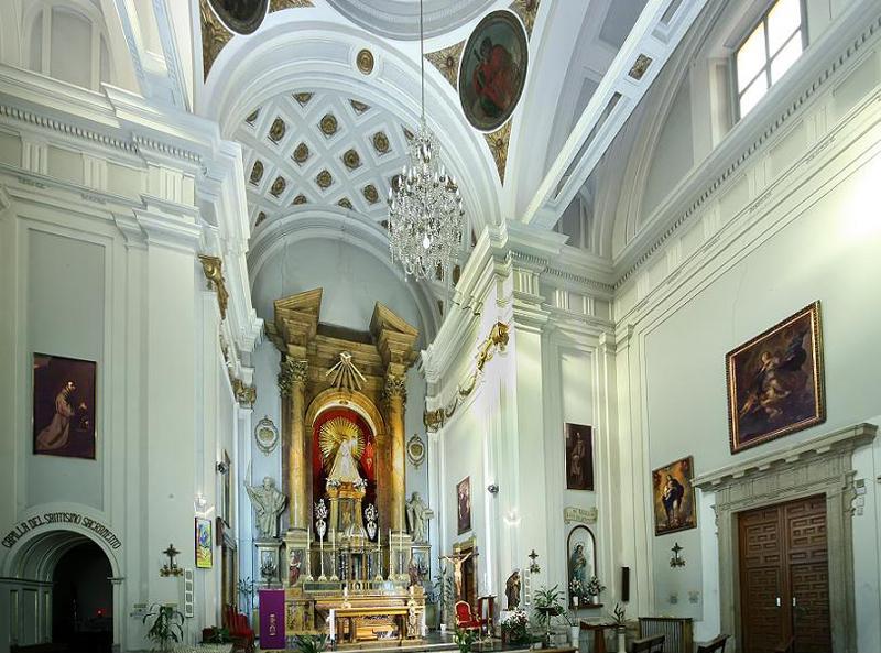 Interior de la iglesia de Maravillas