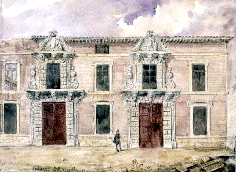 Palacio de Monteleуn. Valentнn Calderera. 1850