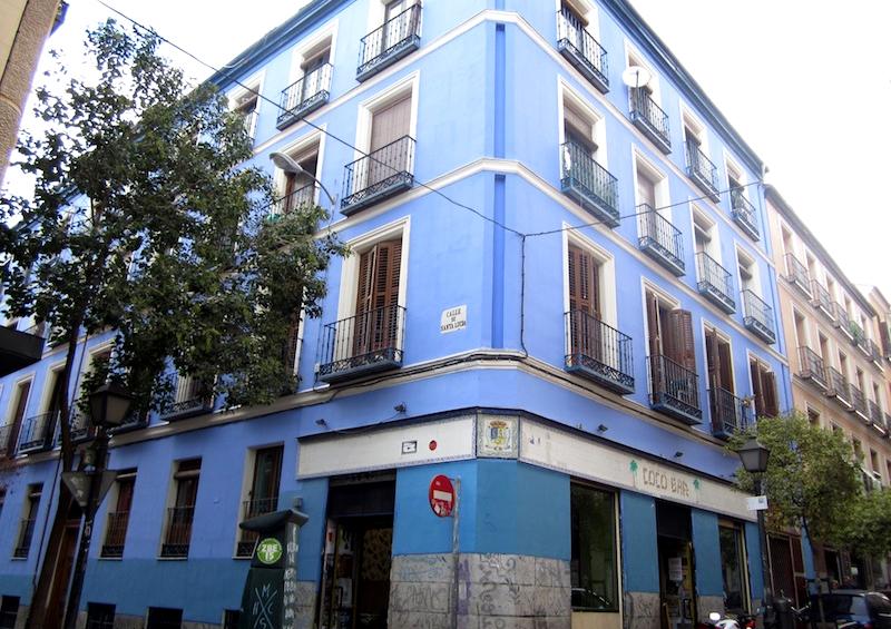 La casa azul en la calle de Santa Lucнa