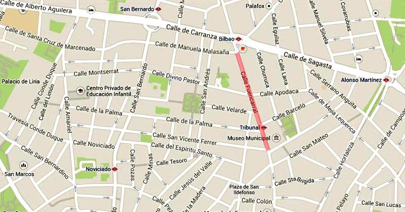 Calle Serrano Madrid Mapa.Barrio De Maravillas