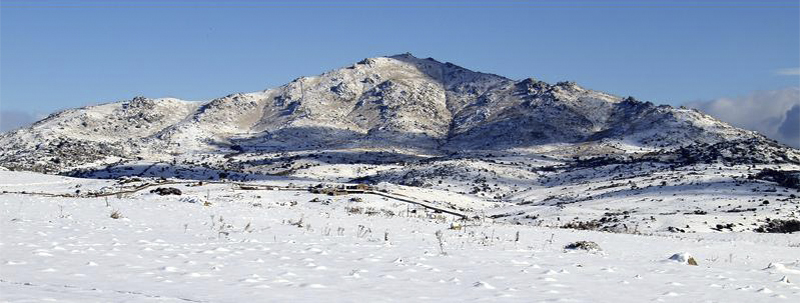 Cerro de San Pedro en invierno
