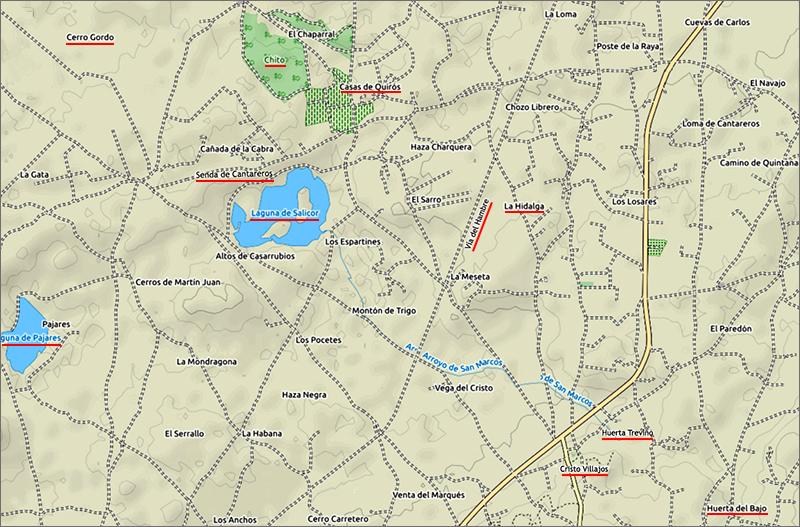 Mapa zona Salicor