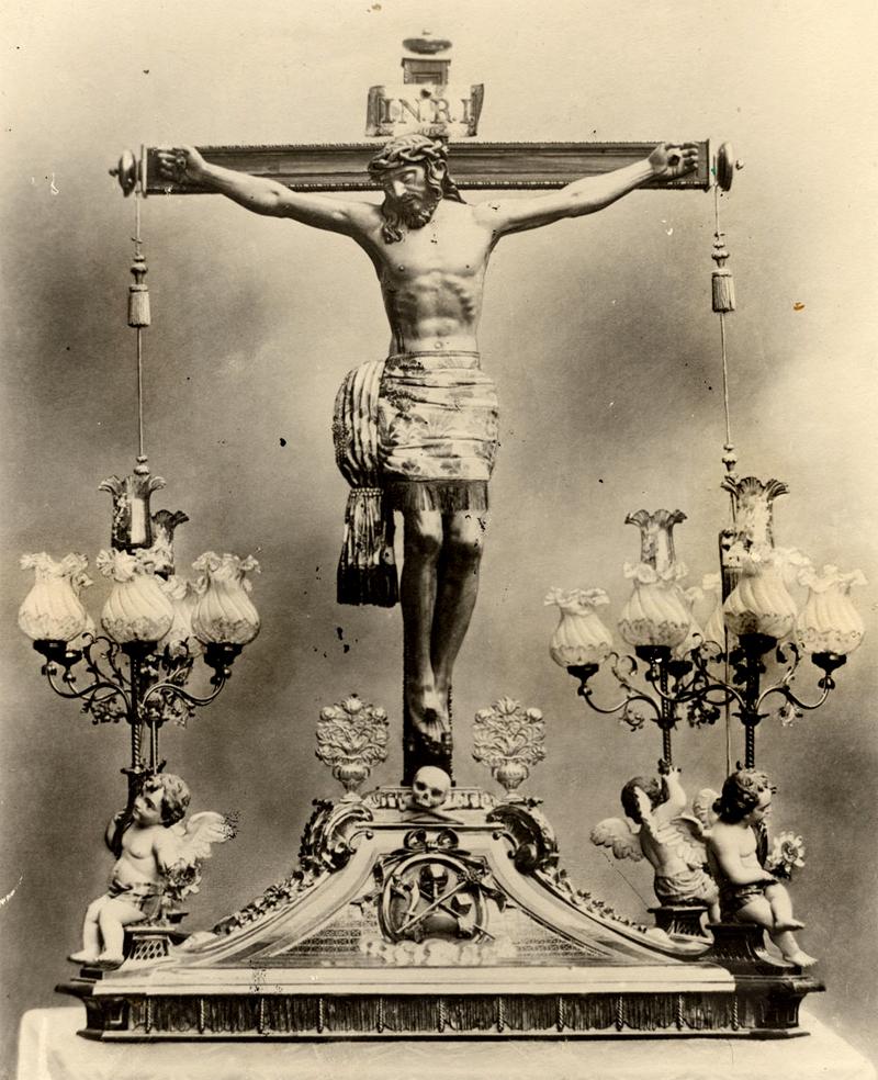 imagen antigua del Cristo de Villajos
