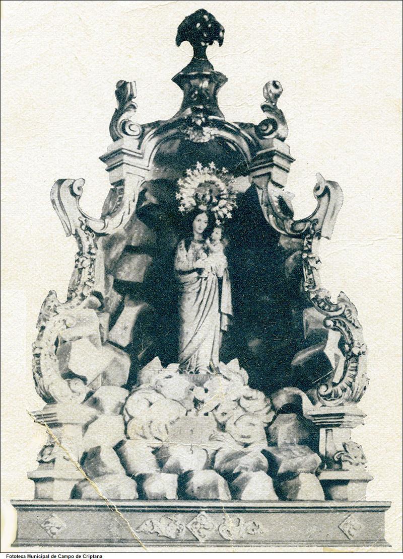 Estampa antigua de la Virgen de Criptana