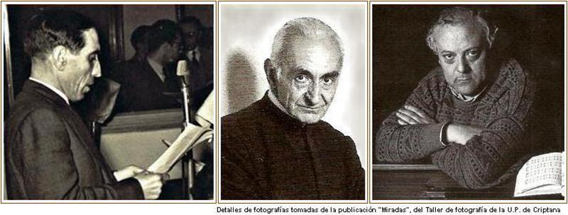 Francisco Lуpez-Casero, don Santiago Olivares y Carmelo Dнaz-Ropero