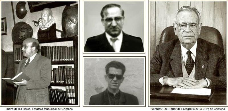 Don Josй Antonio Sбnchez-Manjavacas, don Venancio, don Francisco Flores, y don Rogelio Sбnchez Ruiz