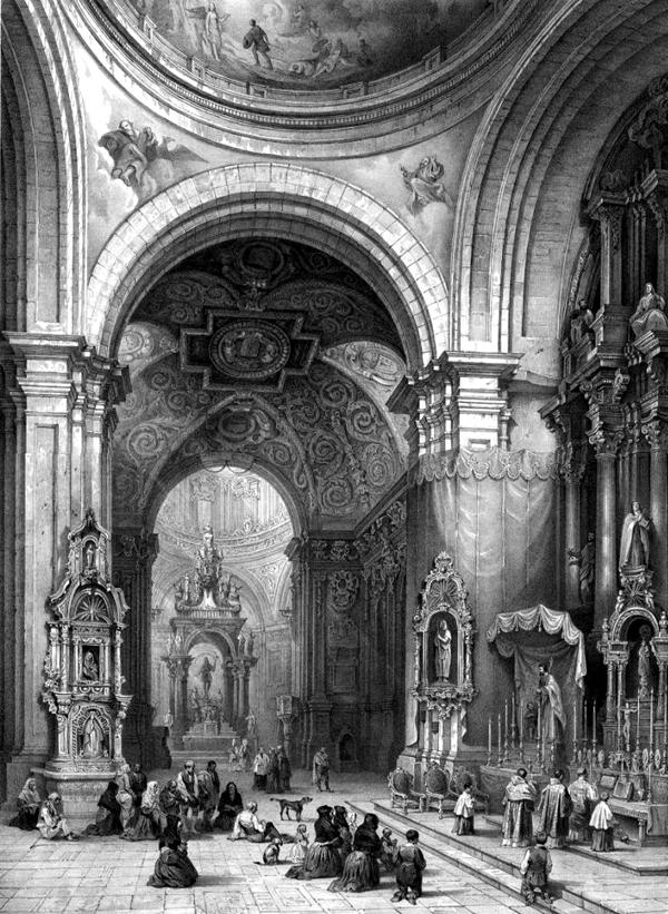 Interior de la capilla de San Isidro antes de 1936