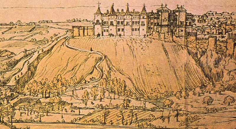 Dibujo de Madrid en 1562 de Wyngaerde