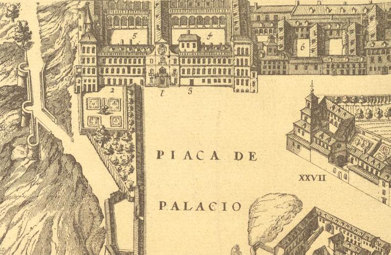 El Alcázar según el plano de Texeira de 1656