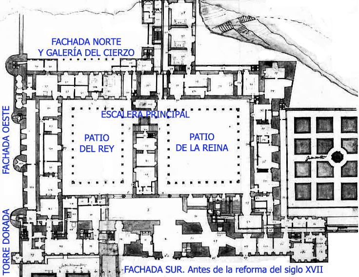 Plano del Alcázar
