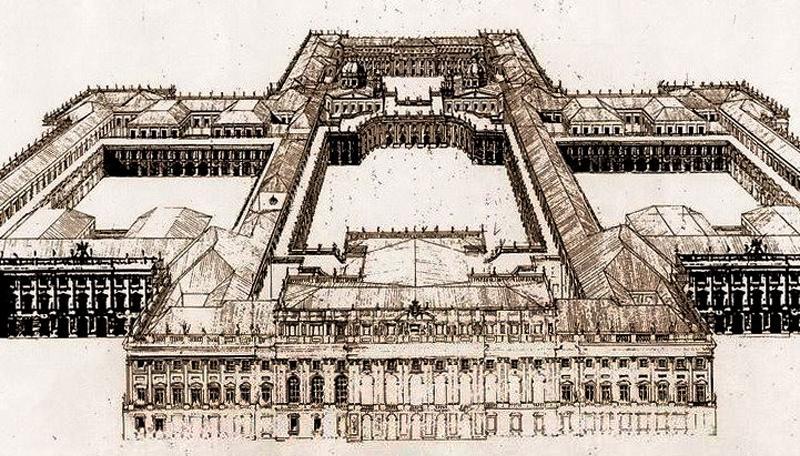 Proyecto de Juvara para el Palacio Real