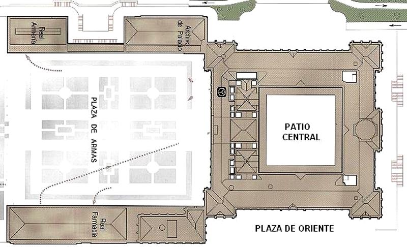 Plano del Palacio Real