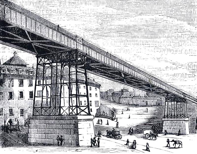 Grabado del antiguo Viaducto