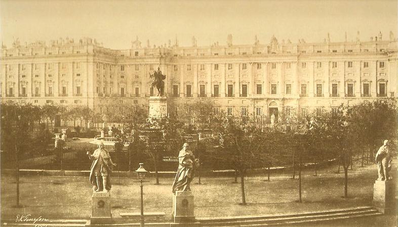 la plaza de Oriente en 1852