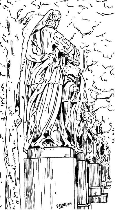 Estatuas de la plaza de Oriente