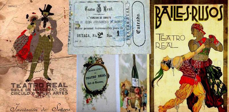 Carteles y recuerdos antiguos del Teatro Real