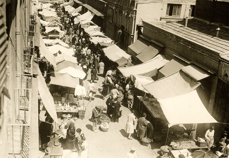 Mercado de Antón Martín en 1929