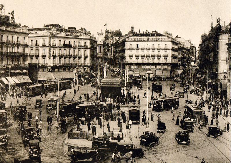 La Puerta del Sol en 1930