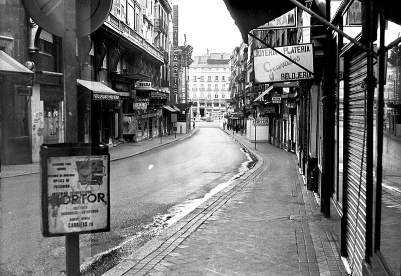 La calle Carretas en 1974