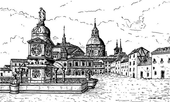 Antigua plaza de la Cebada en el siglo XVII