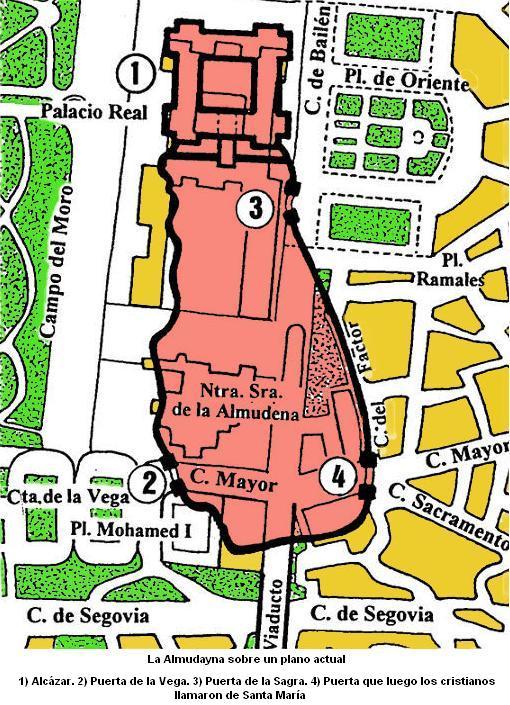 Madrid en la Edad Media 9laalmudaynasobreplanoactual